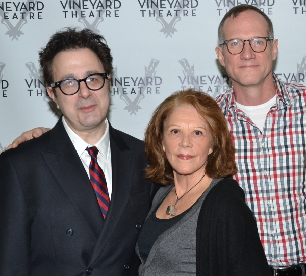 Linda Lavin (center) stars in Nicky Silver's Too Much Sun, directed by Mark Brokaw, at the Vineyard Theatre.