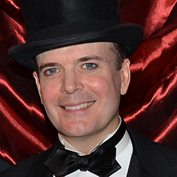 Jefferson Mays is a Tony nominee for Best Leading Actor in a Musical for A Gentleman's Guide to Love and Murder.