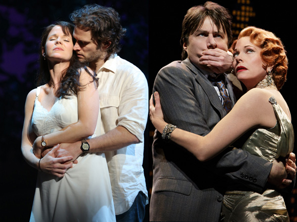 Zach Braff and Marin Mazzie star in Bullets Over Broadway. Steven Pasquale and Kelli O'Hara star in The Bridges of Madison County. Of the four stars, only O'Hara received a 2014 Tony nomination.