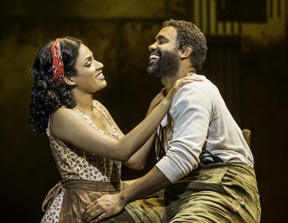 Alicia Hall Moran and Nathaniel Stampley as the title characters in The Gershwins' Porgy and Bess, directed by Diane Paulus, at the Center Theatre Group/Ahmanson Theatre.