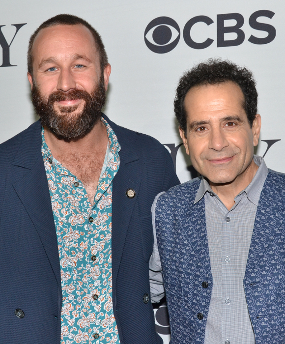 2014 Tony nominees Chris O'Dowd (Of Mice and Men) and Tony Shalhoub (Act One) pose for photos.