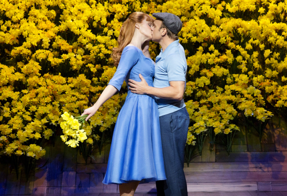 Kate Baldwin and Norbert Leo Butz starred in the Broadway production of Big Fish, directed by Susan Stroman, at the Neil Simon Theatre.