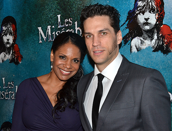 Audra McDonald joins her husband, Les Misérables' Will Swenson.