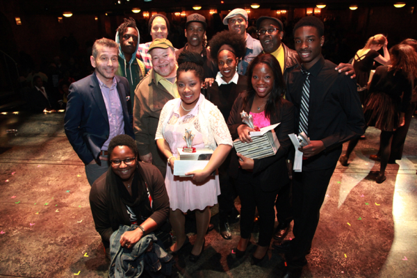 David Cromer, Narda E. Alcorn, Saul Williams and Ben Thompson, Stephen McKinley Henderson, overall winner Ashley Herbert, Denzel Washington, Pauletta Washington, Christopher Jackson, third-place winner Atiauna Grant, James A. Williams, and runner-up Robert Upton.