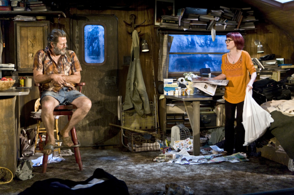 Nick Offerman and Megan Mullally play long-estranged ex-spouses in Annapurna.