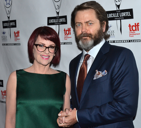 Megan Mullally and Nick Offerman are the married stars of Annapurna.