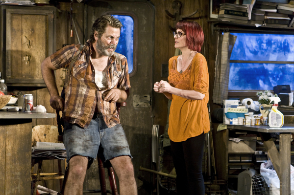 Annapurna, starring Nick Offerman and Megan Mullally, is playing at the Acorn Theater through June 1.