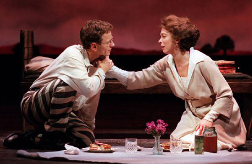 Brent Carver and Carolee Carmello as Leo and Lucille Frank in a scene from the original Broadway production of Jason Robert Brown and Alfred Uhry's Parade in 1999.
