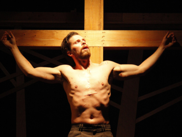 Ben Moroski as Eric in Sarah Ruhl's Passion Play, directed by Trever Biship, at Chance Theater.