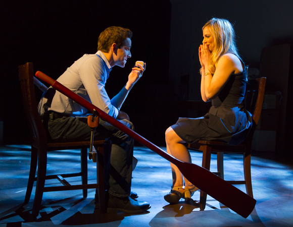 Halpin and Clarke in the only scene their characters share throughout the course of the show.