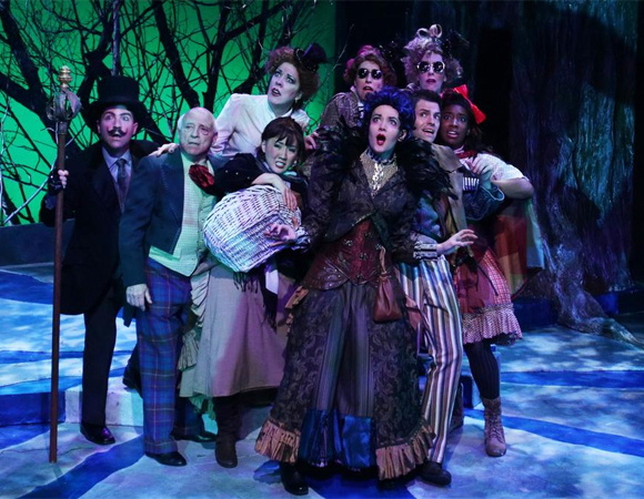 The cast of Stephen Sondheim and James Lapine's Into the Woods at the Lyric Stage Company of Boston.