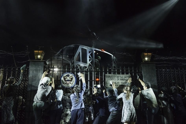 The famous helicopter descends in the 2014 West End revival of Miss Saigon.