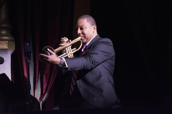 Grammy Award-winning trumpeter Wynton Marsalis made a cameo appearance at Broadway's After Midnight on May 14.