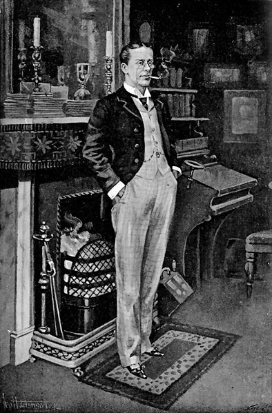 The Mikado's George Grossmith as illustrated in The Idler magazine, 1897.
