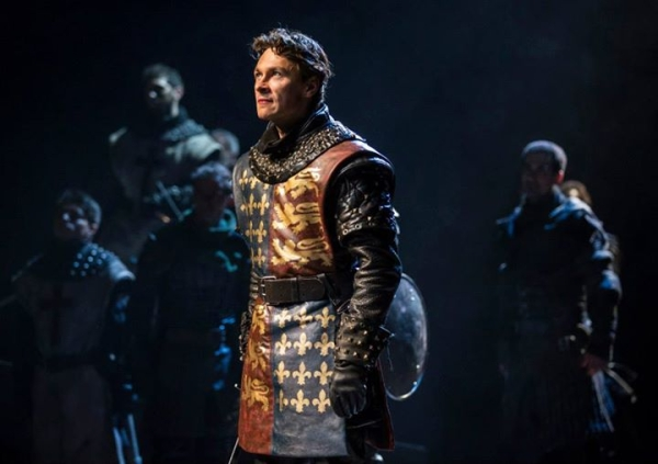 Harry Judge as King Henry in Shakespeare's Henry V, directed by Christopher Luscombe, at Chicago Shakespeare Theater.
