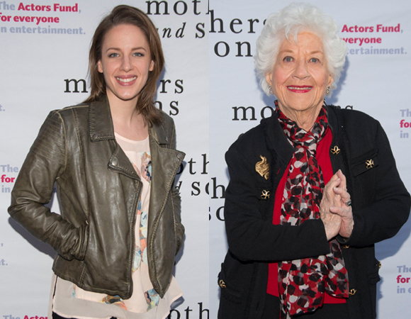 Jessie Mueller and Charlotte Rae at the Actors Fund performance of Mothers and Sons.