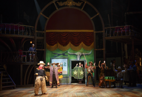 All of the backdrops in Act One were created using a digital printer.
