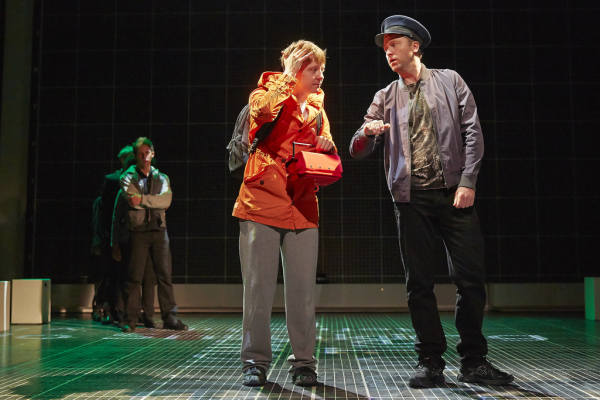 Mike Noble and Daniel Casey in a scene from the National Theatre production of The Curious Incident of the Dog in the Night-Time.