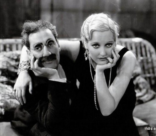 Groucho Marx with Thelma Todd in the 1931 film Monkey Business.