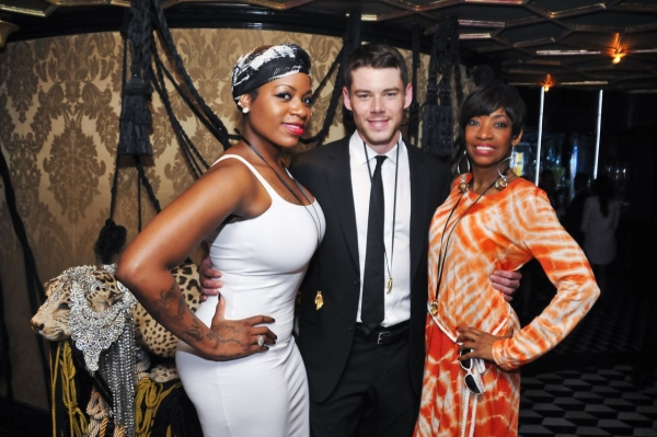 Fantasia, Brian J. Smith, and Adriane Lenox pose backstage at Queen of the Night.