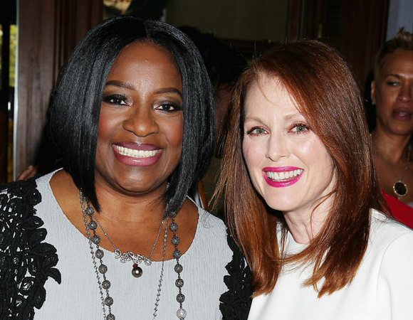 LaTanya Richardson Jackson joins Julianne Moore for a photo.