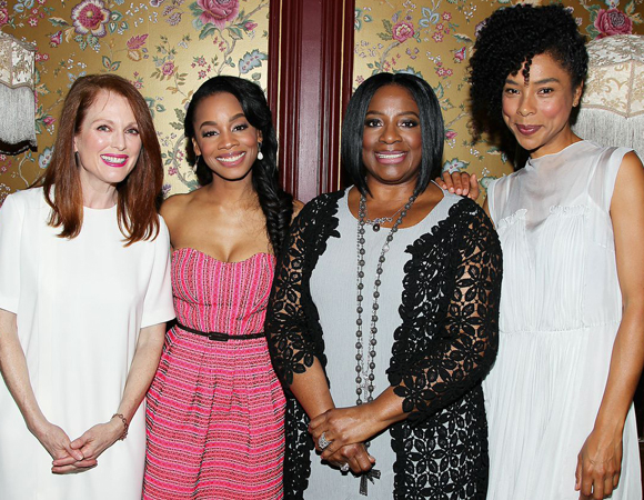 Julianne Moore with the ladies of A Raisin in the Sun: Anika Noni Rose, LaTanya Richardson Jackson, and Sophie Okonedo.
