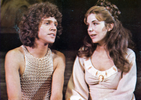 John Rubinstein as Pippin and Jill Clayburgh as Catherine in the original Broadway production of Pippin.