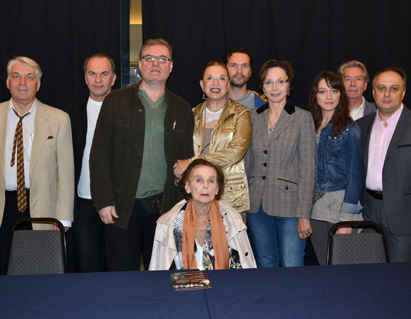 Cast members from Eugene Oneign, a production of Russia's Vakhtangov Theatre, at New York City Center.
