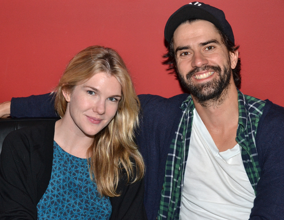 Lily Rabe and Hamish Linklater play Benedick and Beatrice in the Shakespeare in the Park production of Much Ado About Nothing, directed by Jack O'Brien.