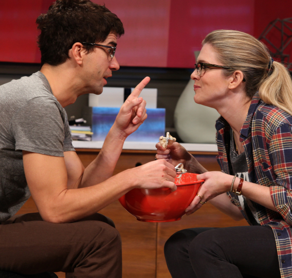Hamish Linklater and Lily Rabe in a scene from Theresa Rebeck's Seminar at Broadway's John Golden Theatre in 2011.