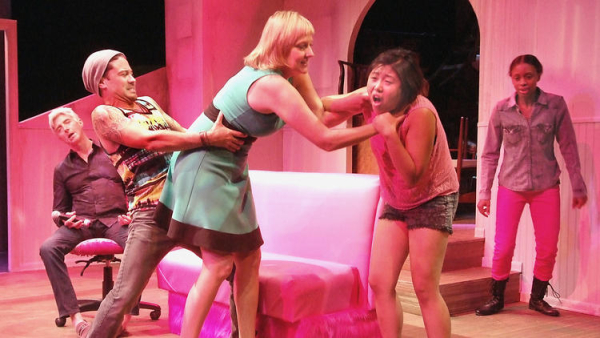 A scene from Hit, by Alice Tuan, at Los Angeles Theatre Center.
