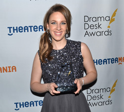 Jessie Mueller won the Drama Desk Award for Outstanding Actress in a Musical for her performance as Carole King in Beautiful — The Carole King Musical.