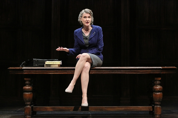 Annette O'Toole as professor Laurie Jameson in Wendy Wasserstein's Third, directed by Michael Cumpsty, now playing at Two River Theater.