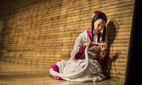 Amy Kim Waschke as the title character in Mary Zimmerman's The White Snake at Chicago's Goodman Theatre.