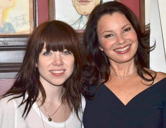 Carly Rae Jepsen and Fran Drescher pose after the unveiling ceremony.