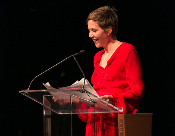 Maggie Gyllenhaal reads from Tolstoy's Anna Karenina at the Lapham's Quarterly Decades Ball.