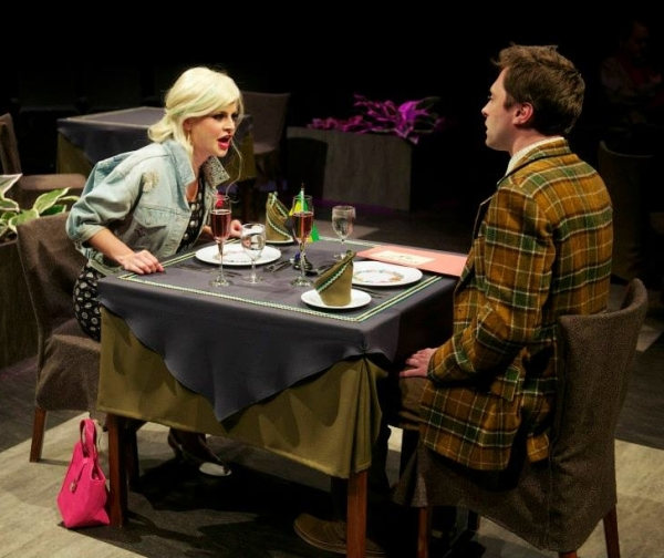 Rachel Caffrey as Maureen and James Powell as Adam in Alan Ayckbourn's Time of My Life.