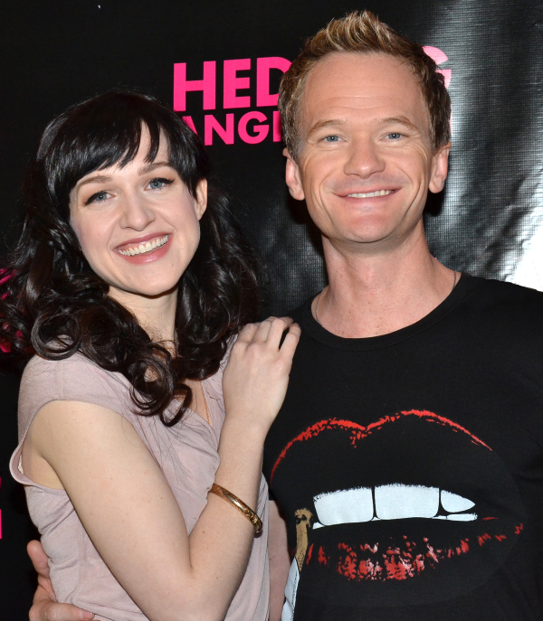 Lena Hall with costar and pal Neil Patrick Harris.