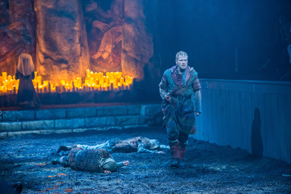 Kenneth Branagh stars in Macbeth, directed by Branagh and Rob Ashford, at the Park Avenue Armory.