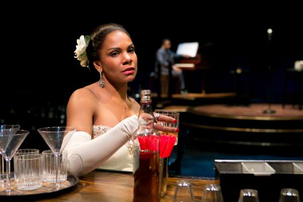 Audra McDonald as Billie Holiday in Lanie Robertson's Lady Day at Emerson's Bar & Grill, directed by Lonny Price, at Broadway's Circle in the Square Theatre.