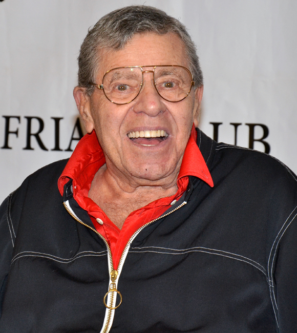 Jerry Lewis at the Friars Club celebrating the new 50th-anniversary release of his film The Nutty Professor.