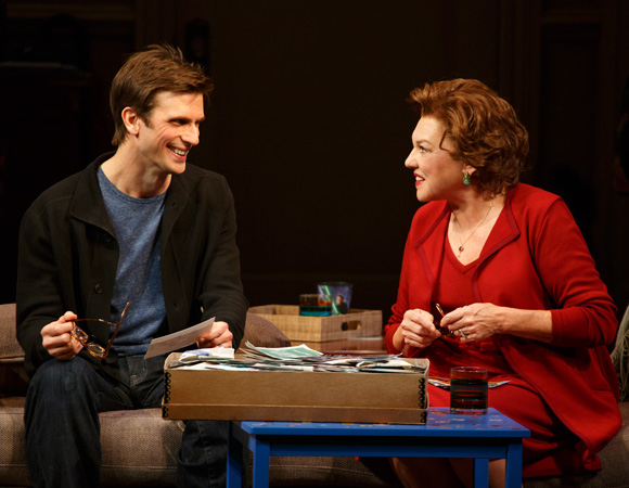 Cal (Frederick Weller) and Katharine (Tyne Daly) in Terrence McNally's Mothers and Sons, directed by Sheryl Kaller, at Broadway's John Golden Theatre.