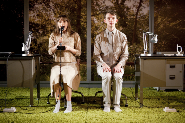Lizzie Watts as Sophie and Thomas Pickles as Jonah in Phil Porter's Blink, directed by Joe Murphy, at 59E59 Theaters.