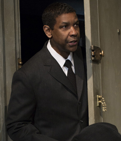 Denzel Washington plays Walter Lee Younger in Kenny Leon's revival of Lorraine Hansberry's A Raisin in the Sun at the Barrymore Theatre.