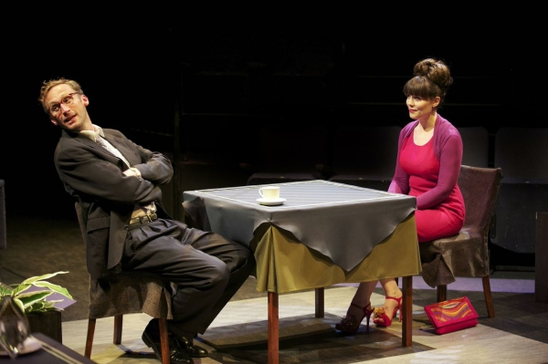 Richard Stacey as Glyn and Emily Pithon as Stephanie in Alan Ayckbourn's Time of My Life.