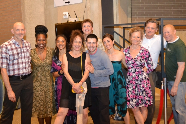 Director and choreographer Liz Lerman and the company of Healing Wars for an opening-night photo.