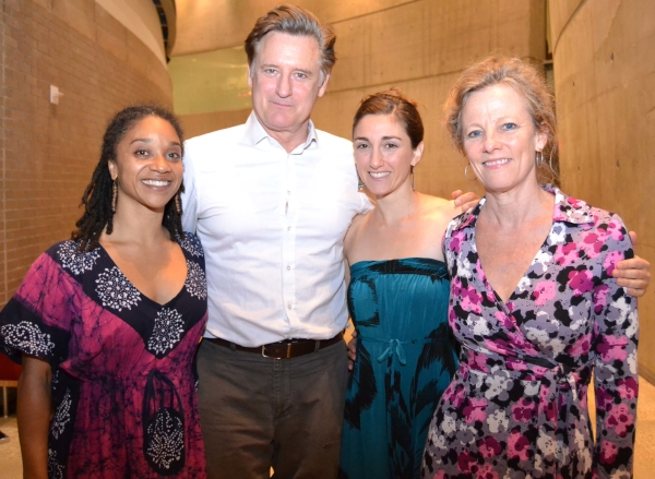 Company members Samantha Speis, Bill Pullman, Alli Ross, and Tamara Hurwitz Pullman celebrate their opening night at Arena Stage.