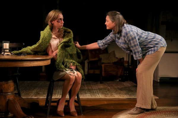 Zoe Kazan and Cherry Jones share a scene in Sarah Treem's thought-provoking new play When We Were Young and Unafraid.