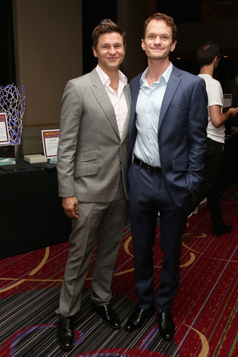 "David Burtka and Neil Patrick Harris attend the Trevor Project's 2014 ""TrevorLIVE NY"" Event at the Marriott Marquis Hotel on June 16."