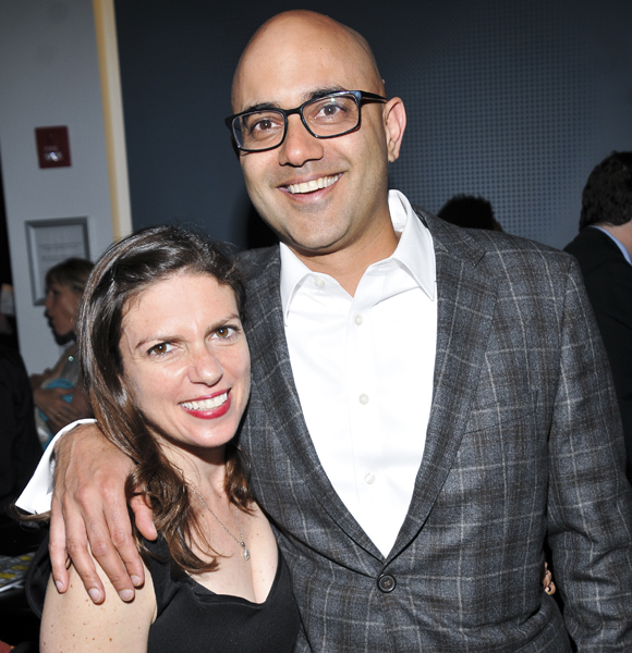 Director Kimberly Senior and playwright Ayad Akhtar celebrate their opening.